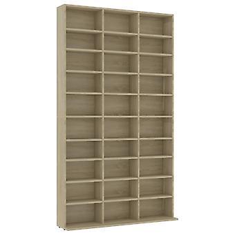 vidaXL CD-Shelf Sonoma Oak 102x23x177.5 cm Chipboard