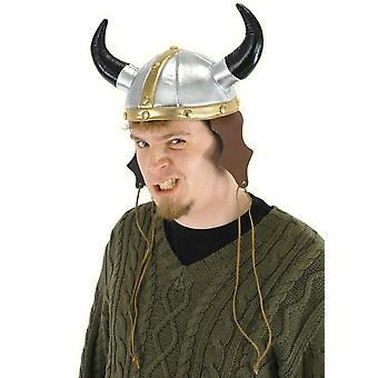 فايكنغ واريور الفينيل حلي فاخرة الكبار خوذة قبعة مع القرن