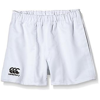 Canterbury of New Zealand Boys Rugby Professional Polyester Shorts-White, Größe 12