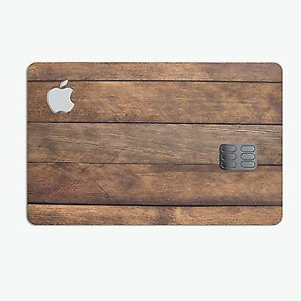 Raw Wood Planks V9 - Premium Protective Decal Skin-kit For The Apple