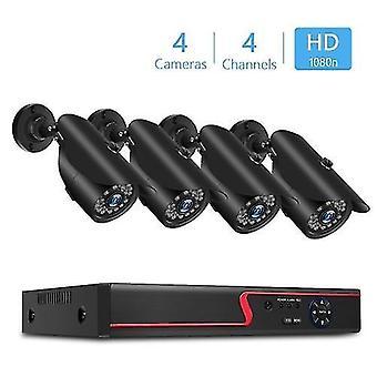 Grabadora de video digital de 4 canales + cámaras 1080P 4pcs con sistema de seguridad y vigilancia para el hogar