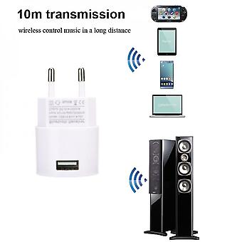 Ac 220v Audio Adapter Usb Wall Charger Wireless Bluetooth Receiver Adapter 3.5mm Aux V5.0 Audio Music Receiver