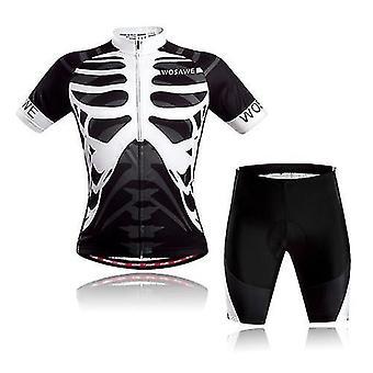自転車の自転車ジャージ半袖サイクリングジャージと男性女性のためのパッド入りのショートパンツセットクイックドライ通気性マウンテンシャツの服