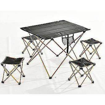 Outdoor opvouwbare tafel bureau stoel vouwen camping wandelen klimmen picknick fishin draagbaar (1pc oranje