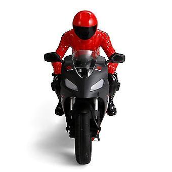 PO 801 1/6 Itsetasaus RC Moottoripyörä 6 akseli gyroskooppi Stunt Racing Muovi Mini Lelu (Punainen)