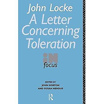 John Locke's Letter on Toleration in Focus