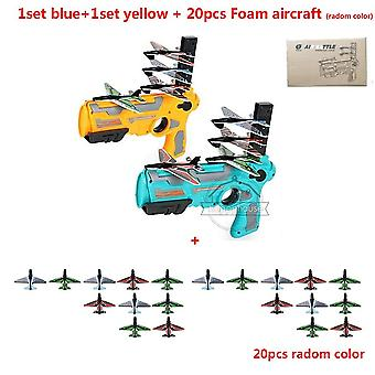 قاذفة طائرة فقاعة المنجنيق الطائرة لعبة الطائرة بندقية المنجنيق
