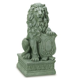 Summerfield Terrace Lion with Shield Garden Statue, Pack of 1