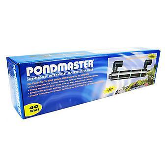"Pondmaster Submersible Ultraviolet Clarifier & Sterilizer - 40 Watts - 2,400 GPH (6,000 Gallons - 1.5"" Inlet/Outlet)"