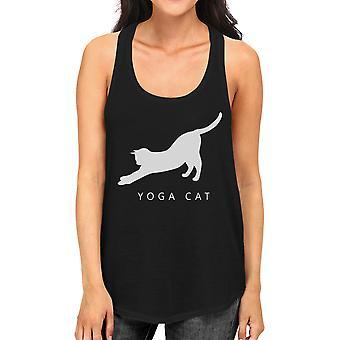 اليوغا القط أعلى الدبابة اليوغا العمل إلى أعلى خزان لطيف هدية لسيدة القط