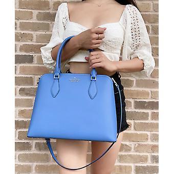 Kate spade darcy large satchel crossbody shoulder bag deep cornflower blue