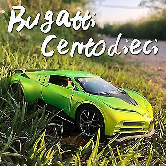 Toy cars 1:32 bugatti die cast alloy car model 110th anniversary edition collectibles children's toys green