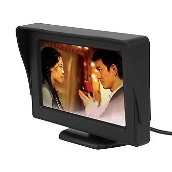 Lcd Car Reverse Rearview Monitor Color Camera Dvd Vcr Remote Control 4.3' Tft