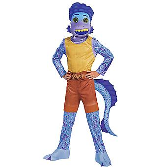 Boys And Girls Luca Jumpsuit Costume With Mask Sea Monster Cosplay Outfits