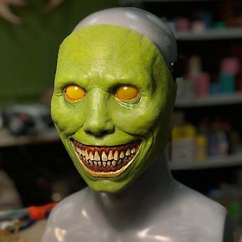 Halloween horror maske Cosplay skræmmende smiley ansigt dæmon maske uhyggelig
