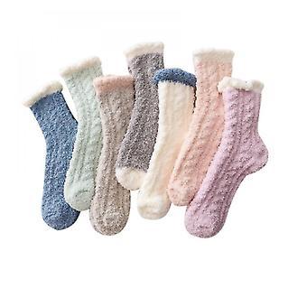 7 Pack Frauen Mädchen Fuzzy Plüsch Socken Winter Fluffy Casual