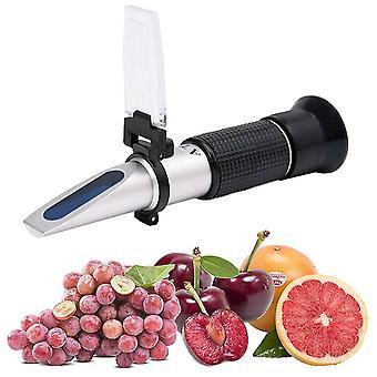 Kädessä pidettävä refractometer 0-32% hedelmäbrix-mittari