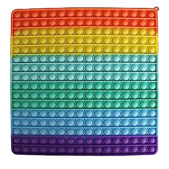 Överdimensionerade ångestlättnadsleksaker Push Pop Bubble Rainbow Sensory Fidget Leksak 20cm