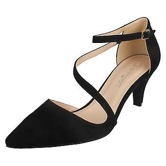 Hyvät paikalla puolivälissä kantapää hihna tuomioistuin kengät F9960