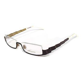 Boucheron Unisex Skinny Rectangular Eyeglasses Purple/Pearl