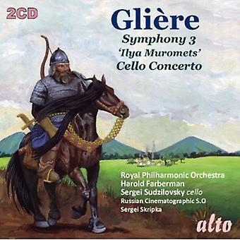 Orquesta real de Philharmonic - Gli Re: Sinfonía nº 3 'Ilya Muromets'; Cello Concerto [CD] USA importar