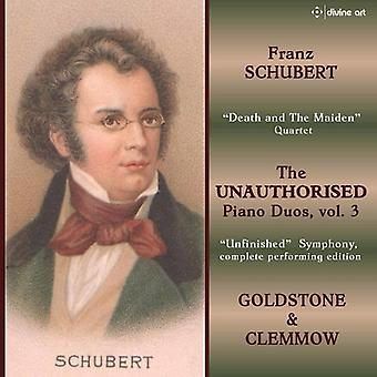 Schubert / Goldstone / Clemmow - Unauthorized Piano Duos 3 [CD] USA import