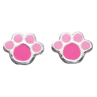 925 Silver Bear Paw Earring