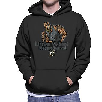 Liftin Vikingen scheren nooit mannen Hooded Sweatshirt