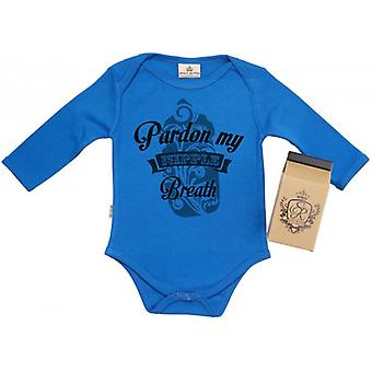 Spoilt Rotten Pardon Milk Breathe Baby Grow 100% Organic In Milk Carton