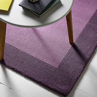 Fronteras de tapetes de lana en color malva