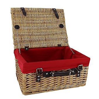 Picknickkorb mit rotem Innenfutter