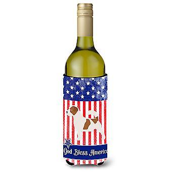 الولايات المتحدة الأمريكية الوطني جاك راسل الكلب زجاجة النبيذ بيفيرجي عازل نعالها