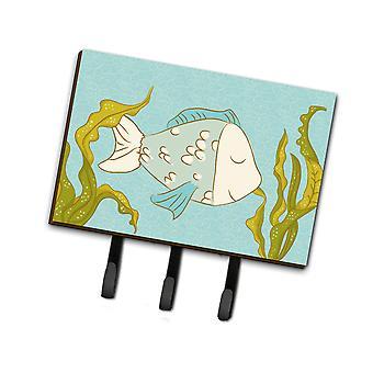 Carolines Treasures  BB8545TH68 Blue Fish Leash or Key Holder