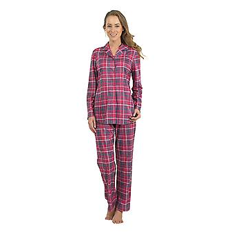 BlackSpade 6113-024 Women's Red Check Pajama Sleepwear Pyjama Set