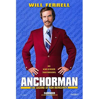 Anchorman-The Legend of Ron Burgundy filmposter (11 x 17)