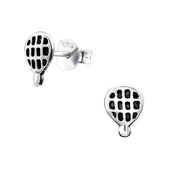 Hot Air Balloon - 925 Sterling Silver Plain Ear Studs - W31310X