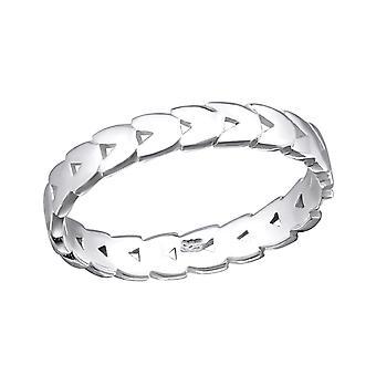 Patterned - 925 Sterling Silver Plain Rings - W34910X