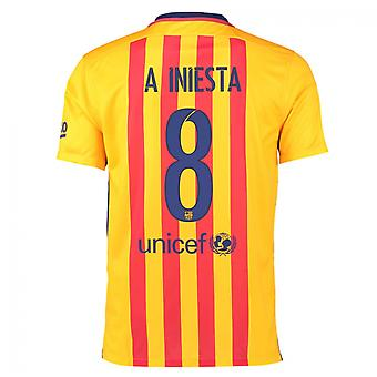 2015-16 Barcelone maillot (Iniesta 8) - Kids