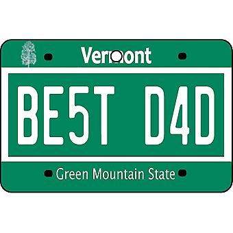 Vermont - Best Dad License Plate Car Air Freshener