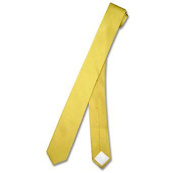 "100% SILK Narrow NeckTie EXTRA Skinny Men's Thin 1.5"" Neck Tie"