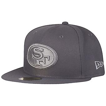 ニューエラ 59 fifty キャップ - グラファイト サンフランシスコ 49 ers