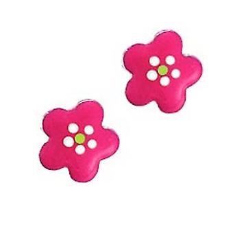 Scout Kinderen oorbellen doorstoken oorbellen zilver bloemen roze meisje 262124100