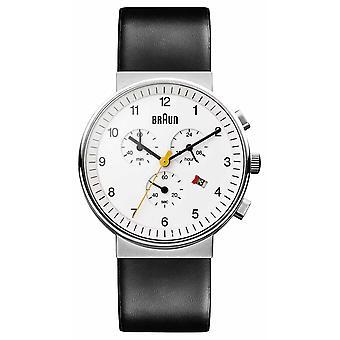 Braun Unisex klasyczny chronograf zegarek BN0035WHBKG