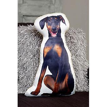 Adorable doberman shaped cushion