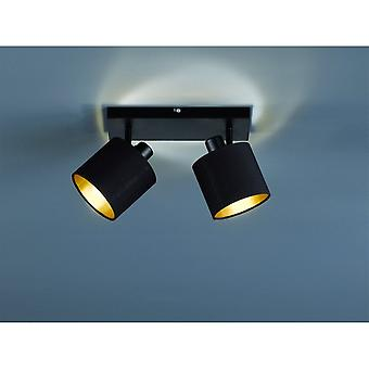 Trio Lighting Tommy Modern Black Matt Metal Spot