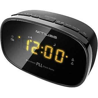 Muse M 150 CR Radio alarm clock FM Black