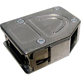 Provertha 10425DC001 D-SUB housing Number of pins: 25 Metal 180 °, 45 °, 45 ° Silver 1 pc(s)
