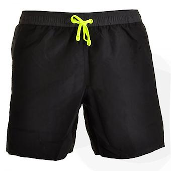 EA7 Emporio Armani Sea World Block Swim Shorts, Black (48)