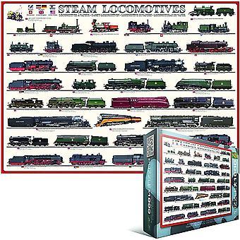 Steam lokomotiver 1000 stykke puslespill