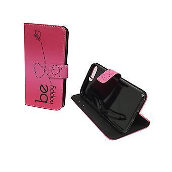Caso del telefono cellulare custodia per telefono cellulare Apple iPhone 8 plus essere felice rosa